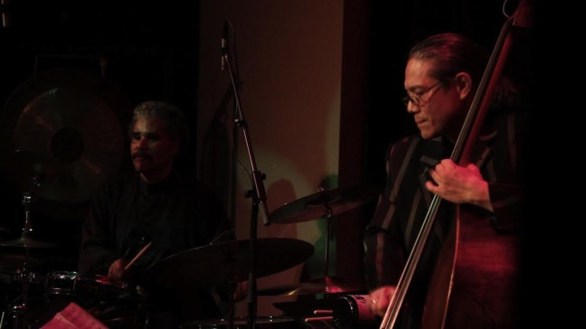 Jazz musicians Anthony Brown and Mark Izu in Don't Lose Your Soul.