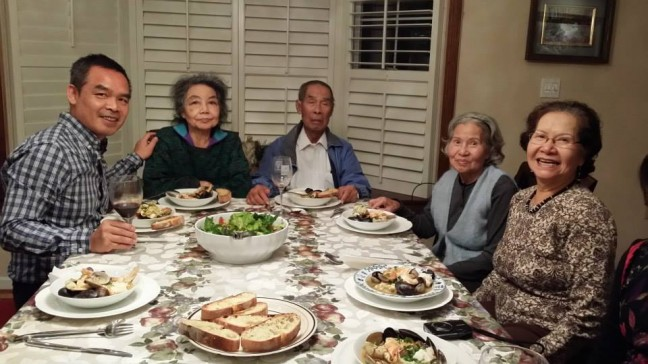 Celebrating Andrew Lam's mother's 80th birthday last year in Fremont, CA. Photo courtesy of the author.