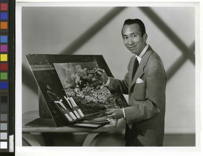 Tyrus Wong. Warner Bros. circa 1940s. Photo courtesy of Pamela Tom.