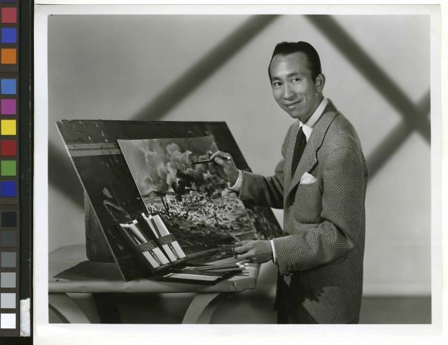 Tyrus Wong. Warner Bros. circa 1940s. Photo courtesy of Pamela Tom.
