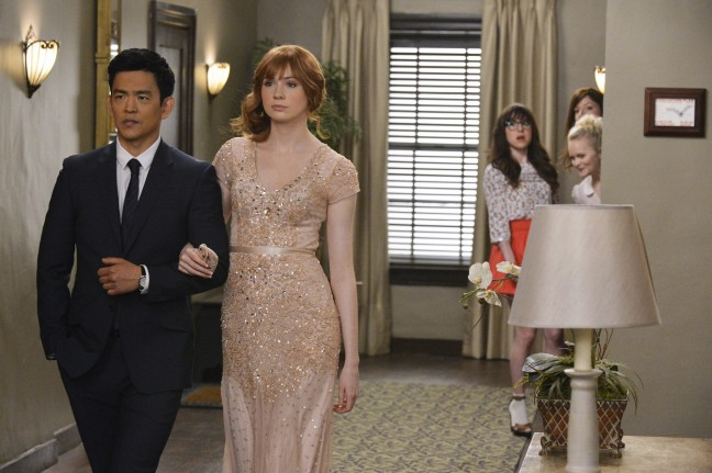 "John Cho and Karen Gillan in ""Selfie."" ABC/Eric McCandless"