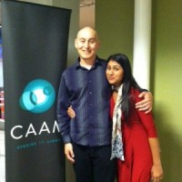 My partner Meena Srinivasan and I.