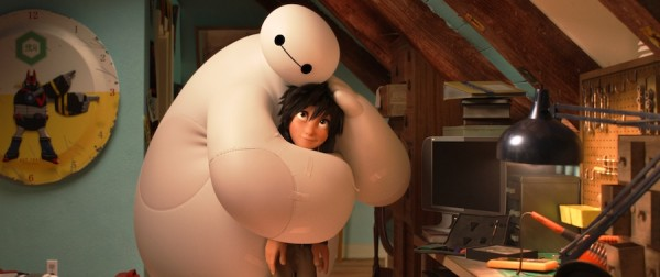 "Baymax and Hiro Hamada in ""Big Hero 6."""