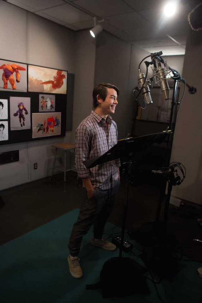"""""""BIG HERO 6"""" Actor Ryan Potter. ©2014 Disney. All Rights Reserved. Photo courtesy of Disney Animation."""