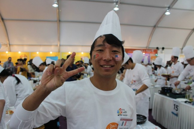 Daniel Salesses' team takes second place at the Slow Food Korea AsiO Gusto festival last year. Photo courtesy of Dan Salesses.
