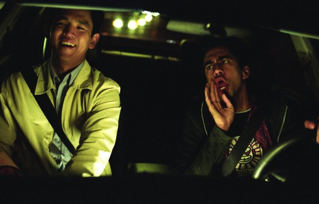 "John Cho and Kal Penn in ""Harold & Kumar Go to White Castle."" Warner Bros."