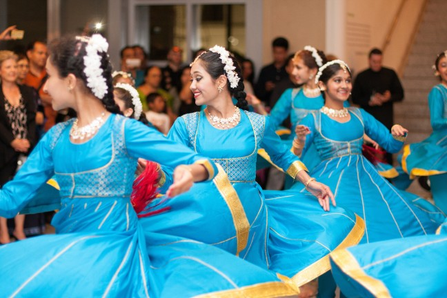 Dancers from the Youth Chitresh Das Dance Company perform at CAAMFest San Jose September 6, 2014.