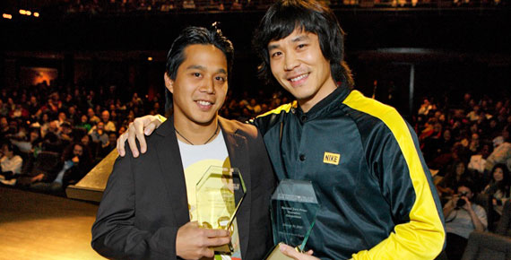 Ron Morales and John Kwon at the SFIAAFF '08 Awards Ceremony