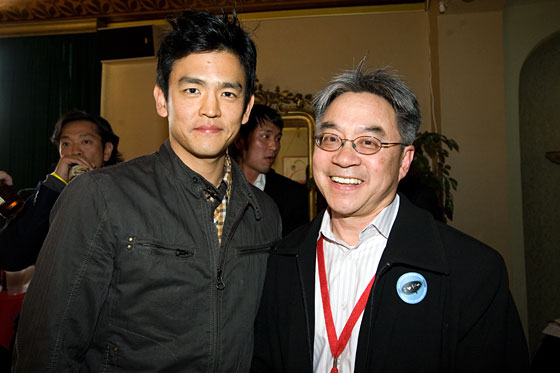 John Cho with CAAM ED Stephen Gong.