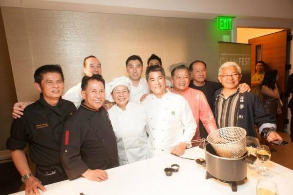 Martin_Yan_Roy_Yamaguchi_fellow_chefs_at_CAAMFeast_photo_by_Jay_Jao