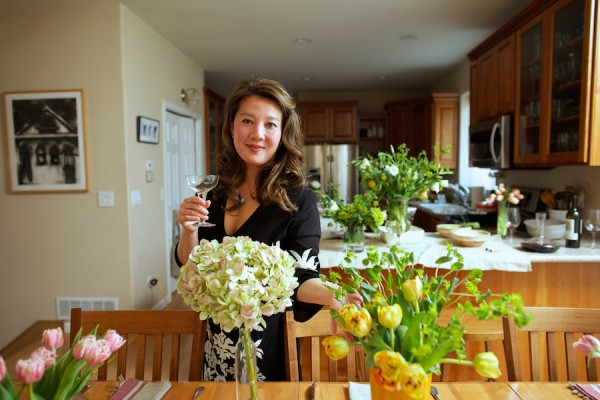 Kim Sunée in her home kitchen in Anchorage, AK on April 28, 2014.   CREDIT: Ash Adams for the Wall Street Journal.