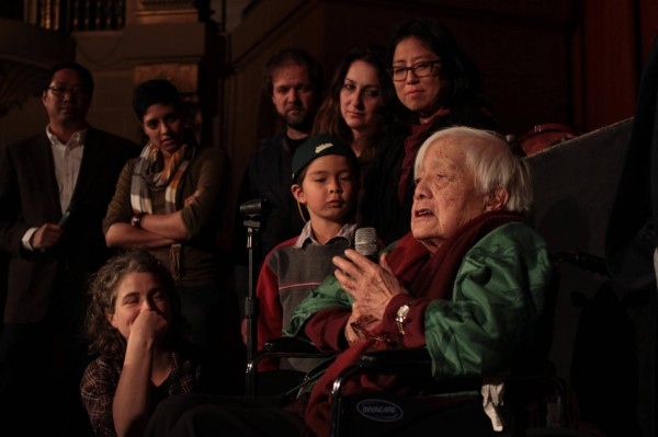 Grace Lee Boggs at the CAAMFest 2014 screening of American Revolutionary. Photo credit: Leanne Koh.