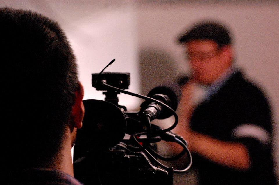 Tony Nguyen filming Bao Phi. Photo by Daren Mooko.
