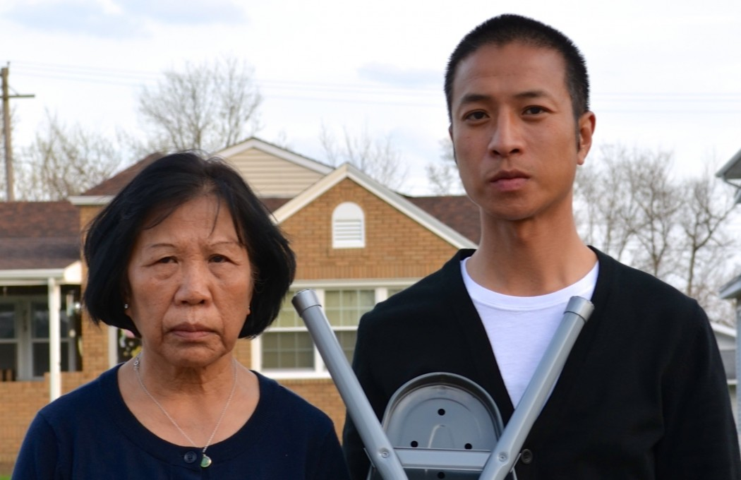 """""""Giap's Last Day at the Ironing Board Factory"""" by Tony Nguyen. Photo by Ed Krauter."""