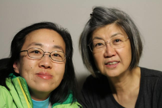 Alice Wong with her mother, Bobby, in San Francisco.