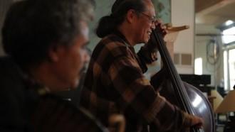 Mark and Anthony jam in studio