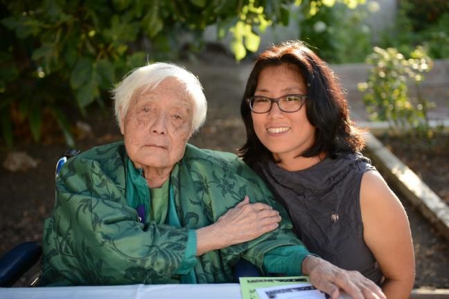 Grace Lee Boggs with filmmaker Grace Lee. Photo by Quyen Tran.