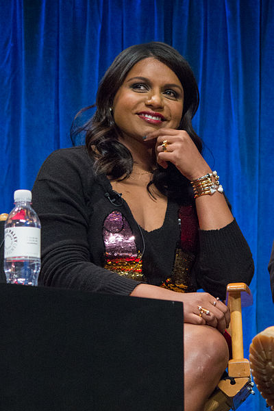 "Mindy Kaling at PaleyFest 2013's panel for ""The Mindy Project."" Photo by Dominick D via Flickr."