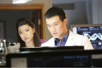 "Grace Park and Brian Yang on ""Hawaii 5-0."" Photo credit: CBS."
