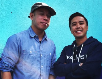 Darren K. Wong (left, Traktivist.com web designer) and Richie Menchavez (Traktivist.com founder)