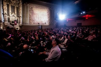 The crowd at CAAMFest 2015 Opening Night, Benson Lee's Seoul Searching, in March 2015. Photo by Jason Jao.