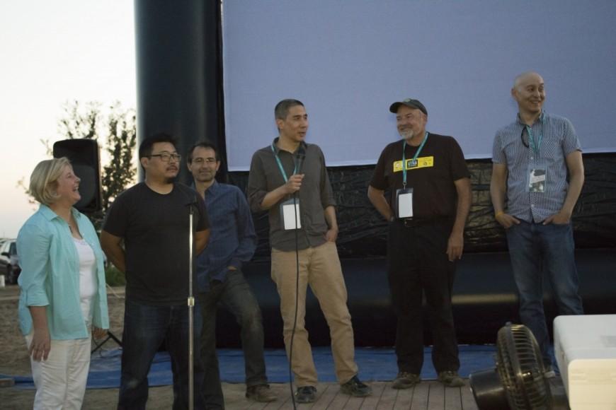 L-R: Marcy Masumoto, Jim Choi, Adriano Bravo,  Donald Young, David Hosley, & Chihiro Wimbush. Photo by Diana Li