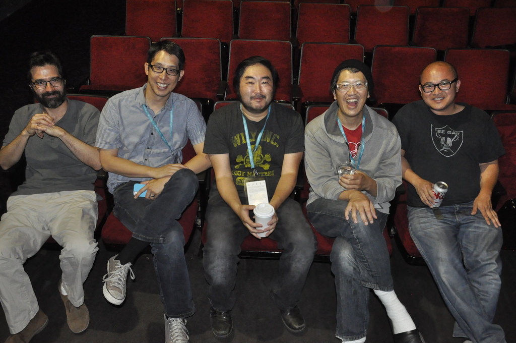 The creative minds of CAAMFest San Jose Centerpiece, Artist Spotlight: (from L to R) Greg Pak, Gene Luen Yang, Goh Nakamura, Jason Shiga and Thien Pham
