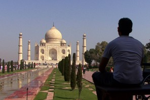 Jason DaSilva at the Taj Mahal. Photo credit: Long Shot Factory.