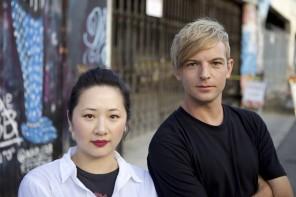 Filmmakers Yu Gu and Scott Drucker.