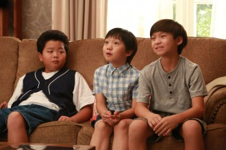 "The Huang kids in ""Fresh Off the Boat."" Photo courtesy ABC/Ron Tom."