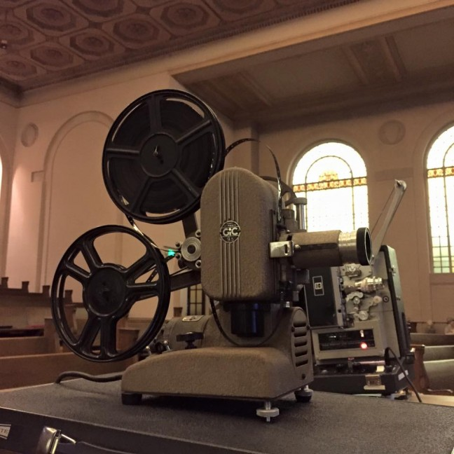 A rare 9.5mm movie projector.