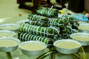 Rice cakes for Tet, Lunar New Year. Photo by Hoàng Long Lê via Flickr/Creative Commons.