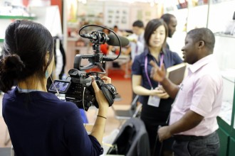Filmmaker Kathy Huang, left. Photo by Eric Jenkins-Sahlin.