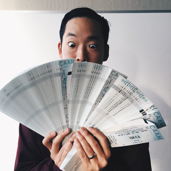 We got ticketssss! Gather 10 or more folks for a screening and save big. $10 per ticket. Photo of Festival Director Masashi Niwano.