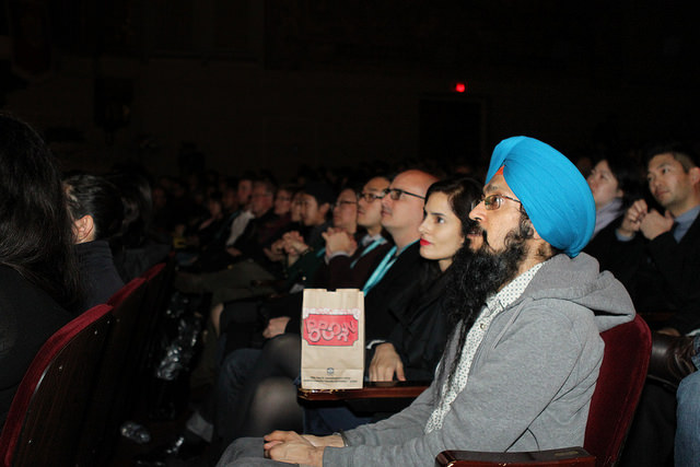 "Audience members at ""TYRUS."" Photo by Leanne Koh."