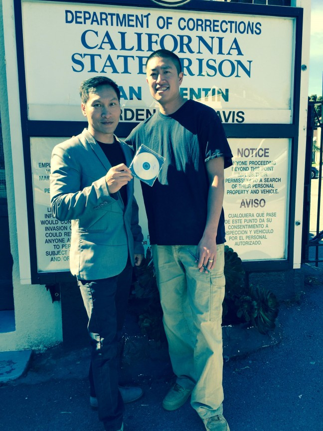 Eddy Zheng with Ben Wang at San Quentin.
