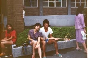 """Filmmaker Valerie Soe on the """"Love Boat"""" in Taiwan, 1982."""