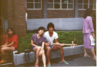 "Filmmaker Valerie Soe on the ""Love Boat"" in Taiwan, 1982."