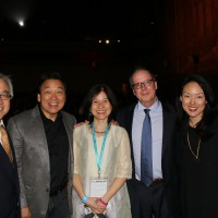 "From left to right: Stephen Gong, Robert Handa, Li-Shin Yu, Ric Burns and San Francisco Supervisor Jane Kim at the CAAMFest 2017 Closing Night presentation of ""THE CHINESE EXCLUSION ACT"" documentary."