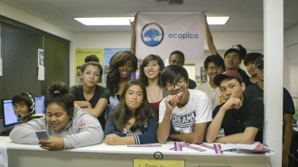 The Orange County Asian and Pacific Islander Community Alliance (OCAPICA) conducts voter education and registration drives in Orange County, CA and trains youth as volunteers to do outreach to the community's over 60 different Asian American and Pacific Islander ethnic groups. Photo from Futuro Media Group.