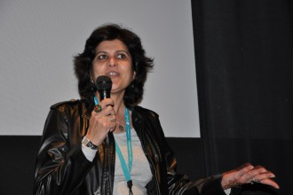 Anjoo Khosla at SFIAAFF 2011 on March 12, 2011 from CAAM's archives. Photo by Matthew Lin.