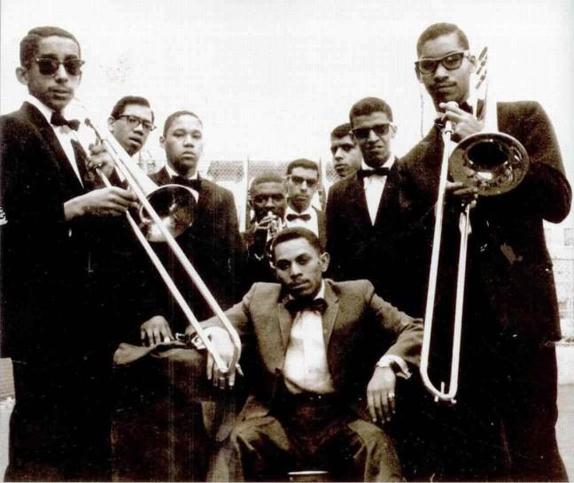 Joe Bataan (center) with bandmates in 1965. Photo courtesy of Joe Bataan.
