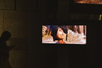 """Photo from """"The Artistry of Kubo: A Magical LAIKA Experience"""" exhibit in LA. Photo by Sean Miura."""