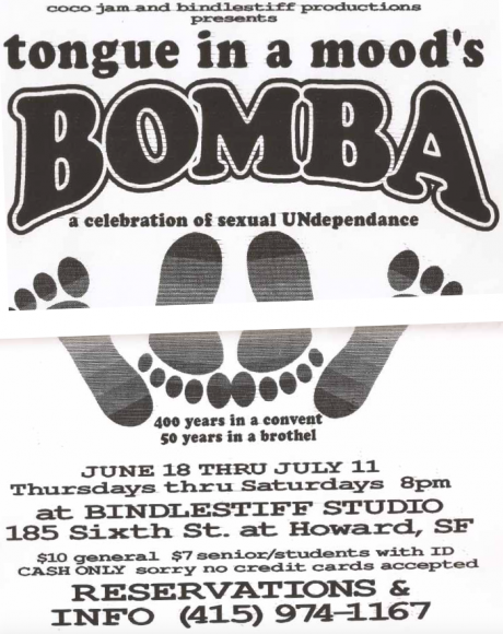 A Tongue in a Mood's flyer from a show in the late 90s at Bindlestiff Studios.