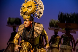 "Gerald Ramsey as Mufasa in ""The Lion King."""