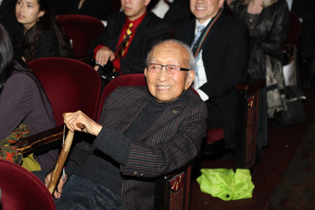 Tyrus Wong, 105, at the Bay Area premiere of