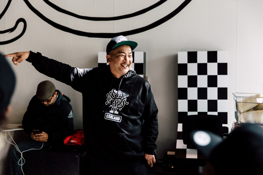 Roy Choi at LocoL. Photo by Audrey Ma, courtesy of LocoL.