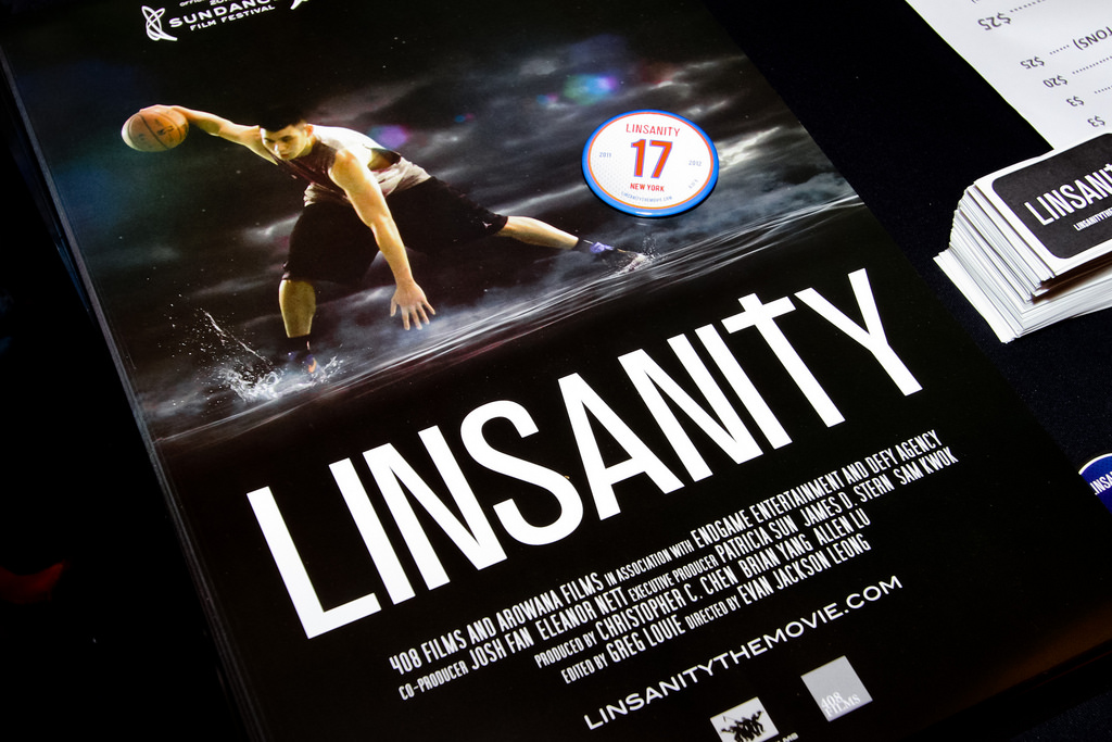 Linsanity poster. Photo by Michael Jeong.