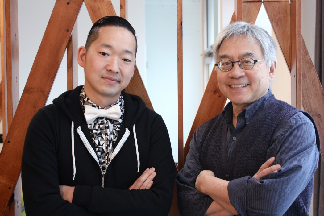 Masashi Niwano (left) and Stephen Gong.