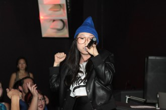 Awkwafina performs at Directions in Sound, CAAMFest 2015. Photo by Leanne Koh.